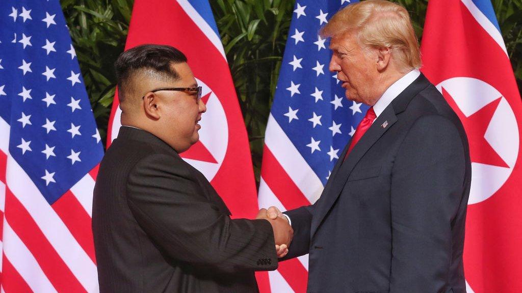 Trump ontmoet Kim Jong-un