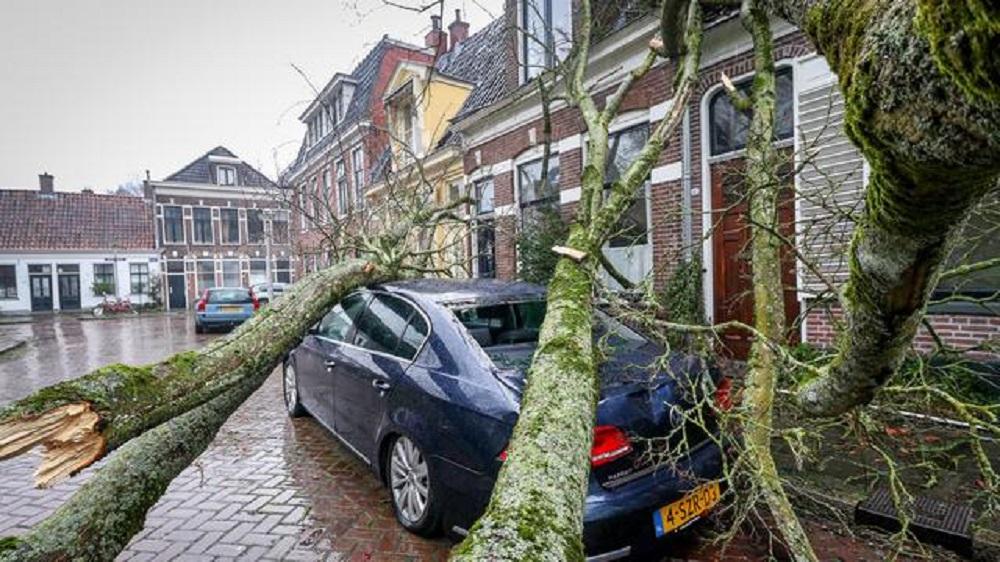 Onstuimige dag in Nederland
